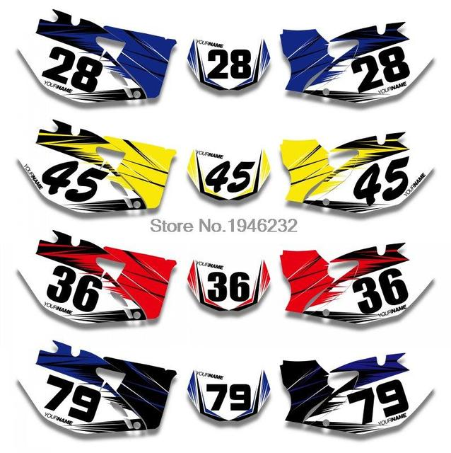 Nicecnc custom number plate background graphics sticker decal for yamaha wr250f wr450f 2007 2008 2009