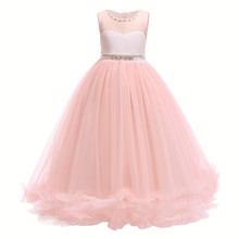 cb5c87bafa1 Princess Dress For Girls First Feast Dress Wedding Lace Pearl Girl Dress  Party Pageant Bridesmaids Formal