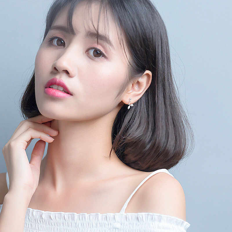 INZATT OL Manis Tumbuh Cabang Menjuntai Drop Earrings Pernyataan Pendientes Mujer Moda 2018 Oorbellen 925 Sterling Silver
