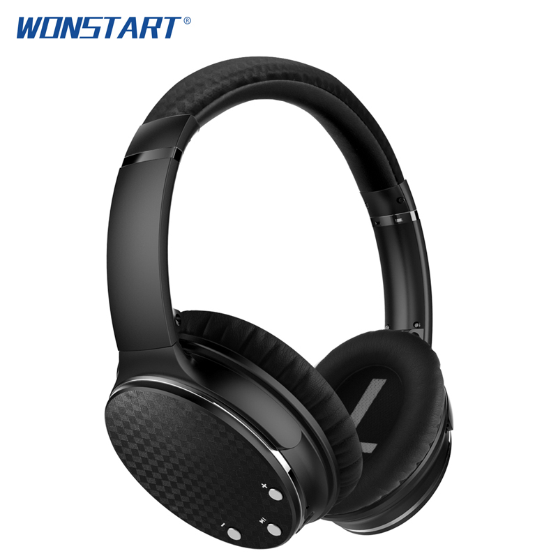 Wonstart Bluetooth Headphone ANC Stereo Adjustable Headphones Active Noise Reduction Headset With Microphone for Xiaomi Huawei k10a bluetooth headset voyager legend headphones stereo handsfree noise reduction bluetooth earphones with storage box