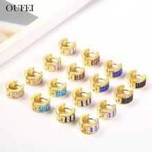 OUFEI Woman Hoop Earrings Female Summer Accessories Stainless Steel Jewelry Bohemian
