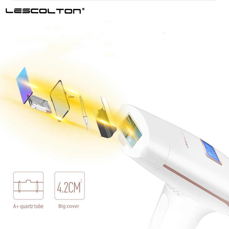 Depiladora láser 3in1 Lescolton, depilación IPL, máquina de pantalla LCD, permanente, recortador de Bikini, 700000 veces