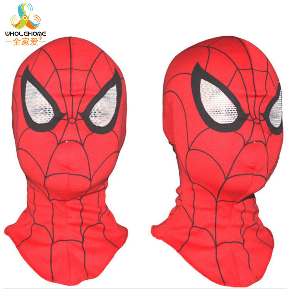 Super Quality Custom Made Hero Toby Spider-Man <font><b>Cosplay</b></font> Face <font><b>Mask</b></font> Elastic <font><b>Spiderman</b></font> <font><b>Mask</b></font> With Eyes