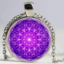 2016 New Fashion Mandala Pendant Necklace Mandala Jewelry Glass Cabochon Necklace Sliver Art