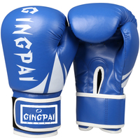 2016 New PU Leather Black Adult Man Women 10 Oz Mitts Boxing Gloves Muay Thai Mma