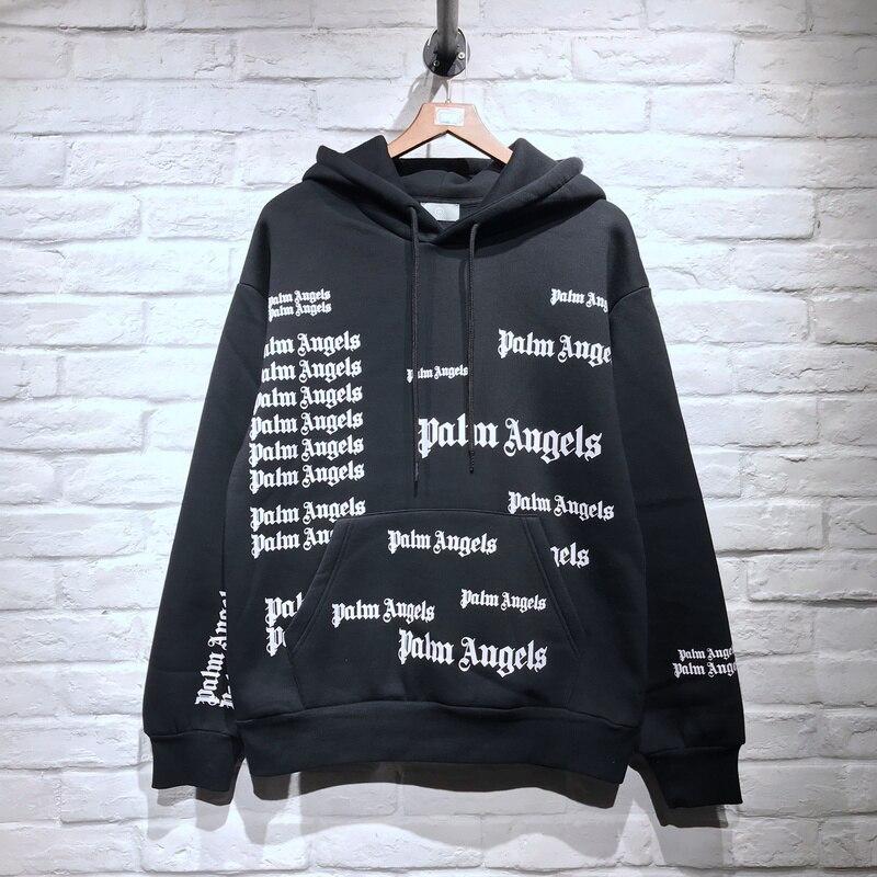 Sudaderas Mujeres Streetwear 2018fw Algodón Impreso Full Sudadera Hombres Hiphop Logo Invierno Pa Pulóver wIqHqYxz