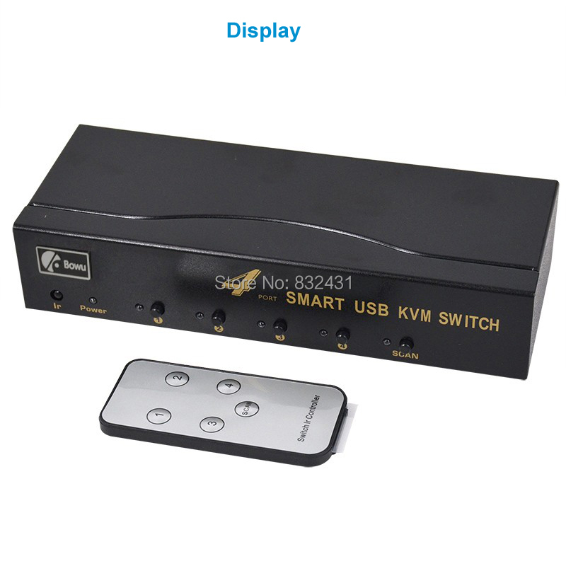 4 Port Smart USB KVM Switch 7