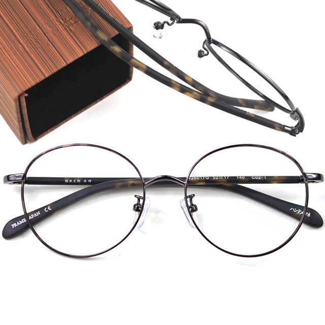 2807ac87b7 Products Vintage Round Oval Women Men Optical Eyeglasses Frame Black Gold  Handmade Metal Eyewear reading glasses