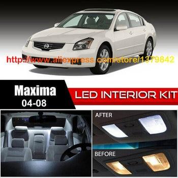 Free Shipping 18Pcs/Lot car-styling 12v Xenon White/Blue Package Kit LED Interior Lights For 04-08 Nissan Maxima