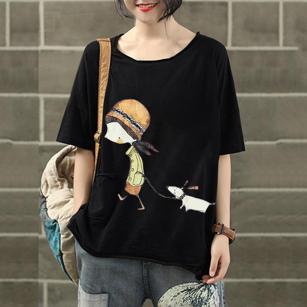 Funny T Shirt Women Tshirt Tops Short Sleeve T-shirt Women Korean Clothes O Neck Tshirt Summer 2019 Casual Tee Shirt Femme Mujer