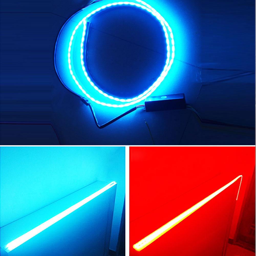 48 Flexible Red Ice Blue Tailgate LED Strip Light Bar Reverse Brake Turn Signal Tail for