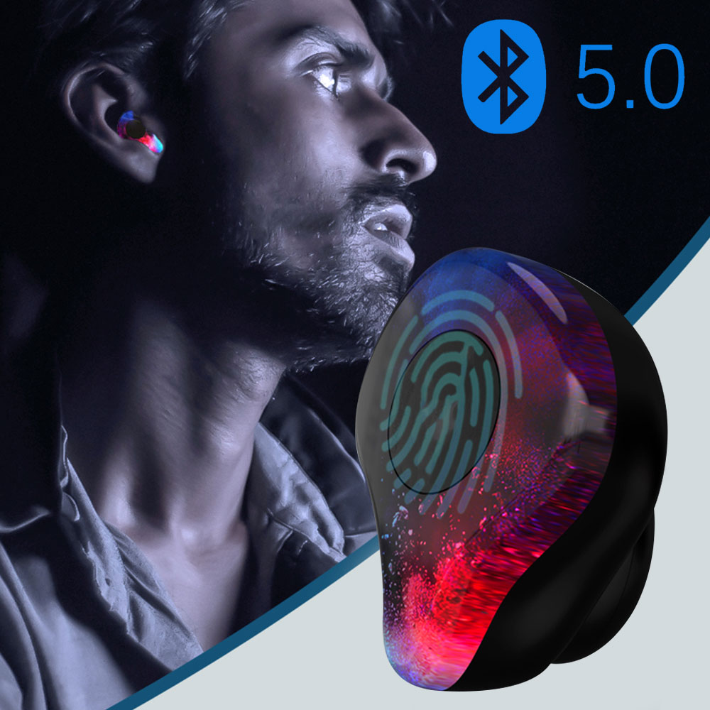 Bluetooth5.0 Wireless Earphone IPX5 Waterproof Wireless Earphone Portable Handfree Stereo For IOS Android Voice Assistance 100% original huawei honor xsport bluetooth earphone am61 ipx5 music waterproof wireless earphone for android ios with mic