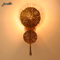 jmmxiuz Modern art deco wall lamp gold applique AC110V 220v LED wall lamp for family and hotel