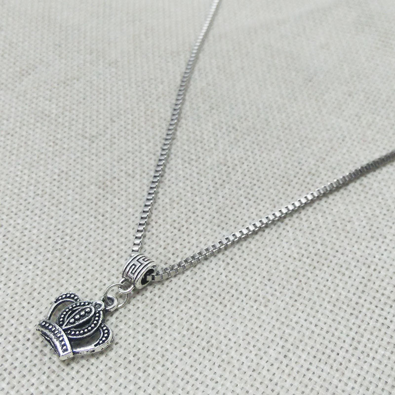 US $1 89 5% OFF|bear flower necklace tibet silver beads charms chain box  chains venise links tube pendant lobster swivel connector filigree boho-in