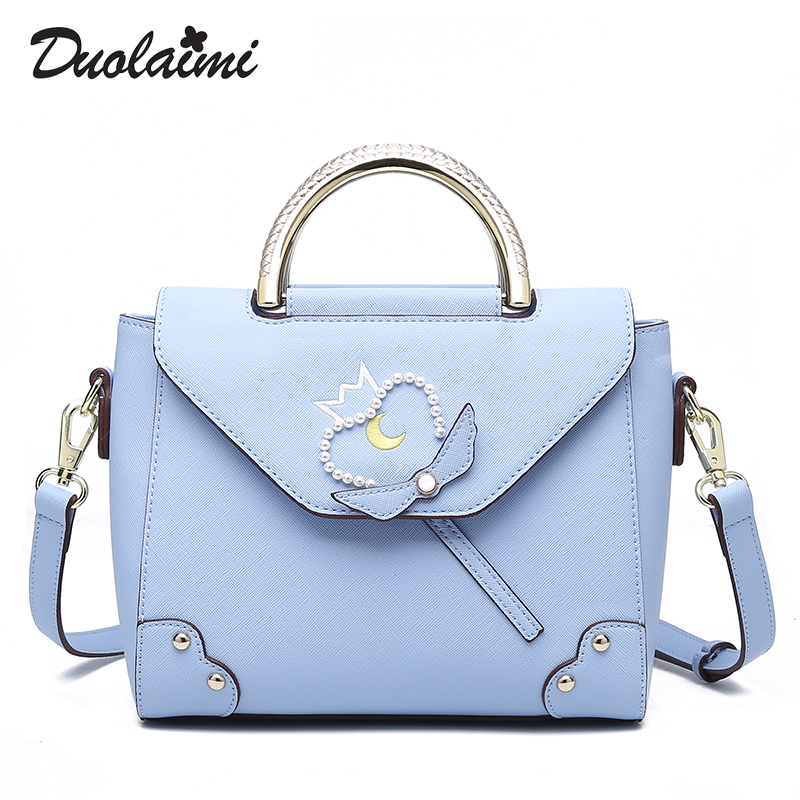 duolaimi brand rivet embroidery metal handle handbag hotsale laides cute clutch women party purse blue shoulder messenger bags mosunx adapter 3 in 1mini display port dp thunderbolt to dvi vga hdmi adapter cable for macbook td1222 dropship