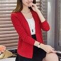36 del resorte nuevas mujeres de Corea del todo-fósforo pequeña chaqueta de punto de manga corta de color auténtico mantón mujer F1071