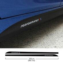 Car Carbon Fibre Side Skirt Sill Racing Stripe For BMW F22 F23 F30 F32 F33 320i 316i 328i E60 E61 X5 F15 M Performance Sticker