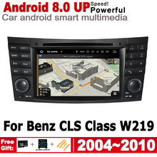 7 HD Android 8.0 up Car DVD GPS Navi Map For Mercedes Benz CLS Class W219 2004~2010 NTG multimedia player radio WiFi System цена