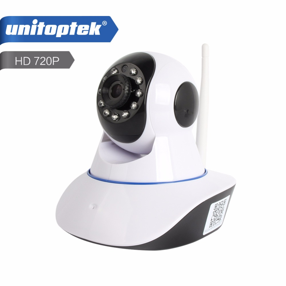 1.0MP Wireless IP Camera WIFI IR-Cut Night Vision Two Way Audio HD 720P PTZ CCTV Surveillance Camera IP  XMEye Indoor UNITOPTEK sacam 720p wifi wireless ip camera with two way audio ir cut night vision video onvif p2p network webcam for home security alarm