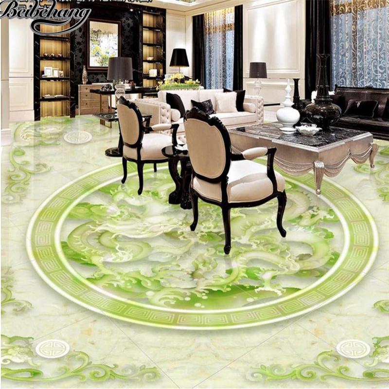 beibehang Custom 3D floor to draw the style of the two dragons bead stone relief 3D floor tiles to paint decorative wallpaper wall sticker customized 3d floor tiles for livingroom welcome song marble stone relief floor wallpaper