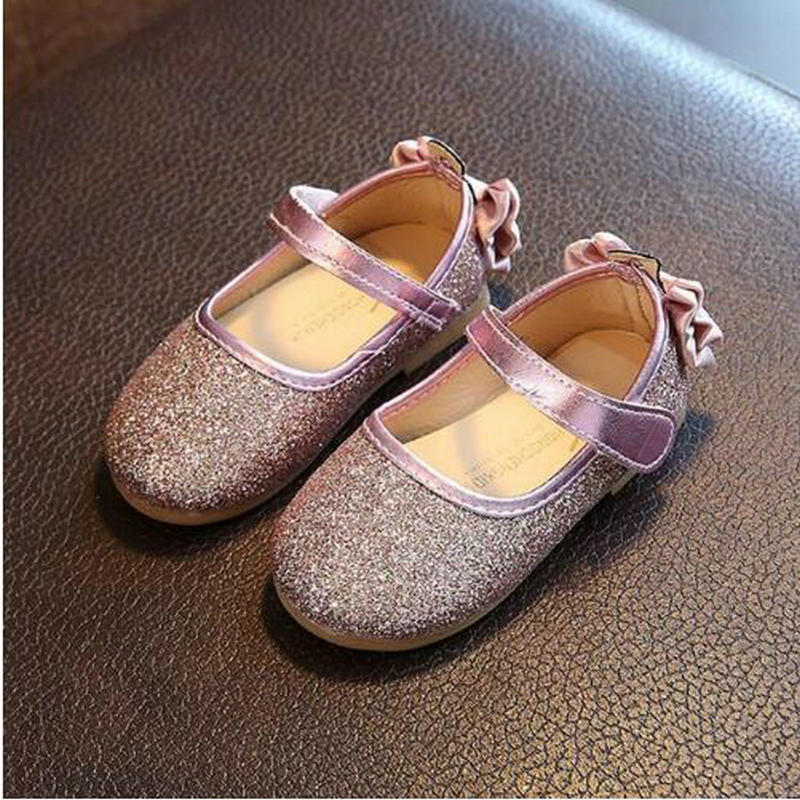 Girls Shoes New Autumn Fashion Girls Party Shoes butterfly Pretty Princess Children Shoes Baby Girls Leather Shoe