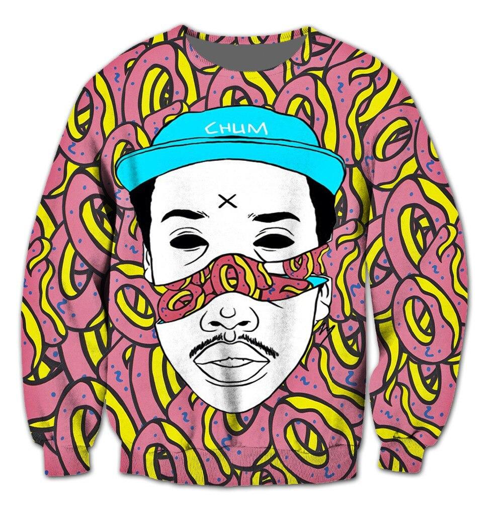 2017 NEW FASHION MEN WOMEN odd future crew neck Sweat shirts Pullovers Autumn Tracksuit Streetwear Winter Loose Thin Hoody Top