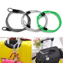 100cm x 2mm Cycling Sport Security Loop Cable Lock Bikes Bicycle Scooter U-Lock(China)
