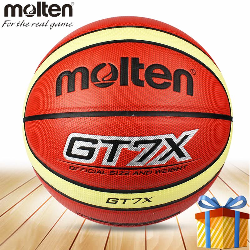 Tamanho de uma bola de basquete Molten 7 homem ballon balon oficial de  treinamento de basquete 3adc256ac3a0a