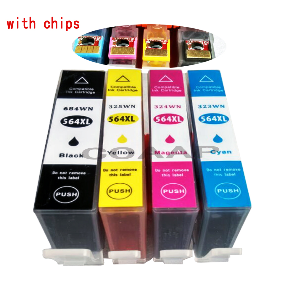 Aliexpresscom Buy 4 Pk Compatible 564xl Ink Cartridge For Hp 564
