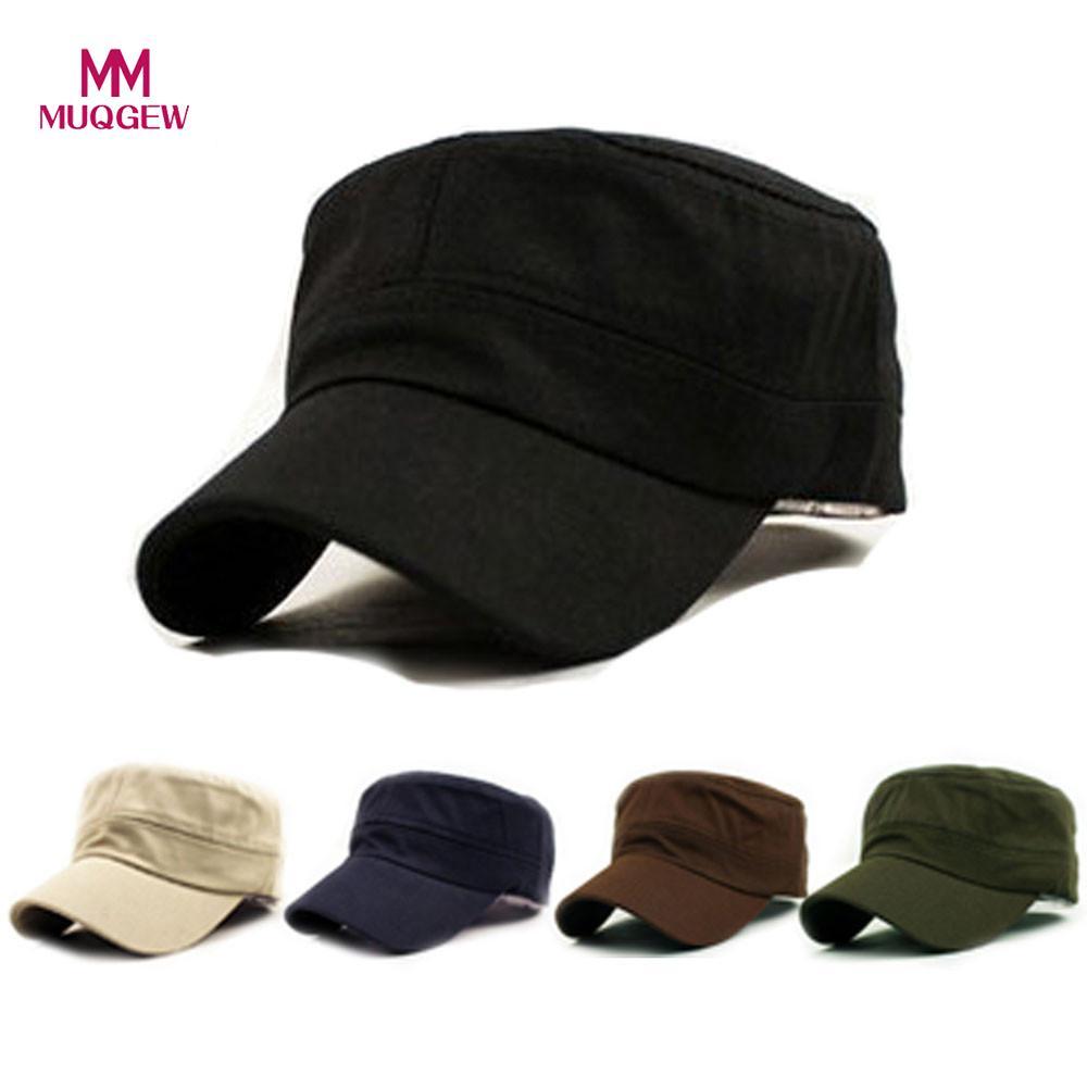 Unisex Baseball Caps Summer Classic Plain Vintage Army Military Cadet Style Cotton Cap Hat Adjustable Solid Color Men Hats bone para bordar