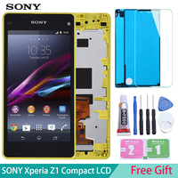 Original 4.3'' LCD for SONY Xperia Z1 Compact Display Touch Screen Digiziter For SONY Xperia Z1 Compact Display D5503 M51w