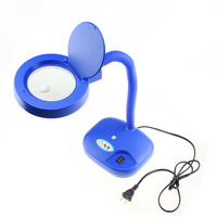 free shipping 3X 5X Desktop Magnifier With light adjustable Desk Lamp table lamp with magnifying glass head magnifier