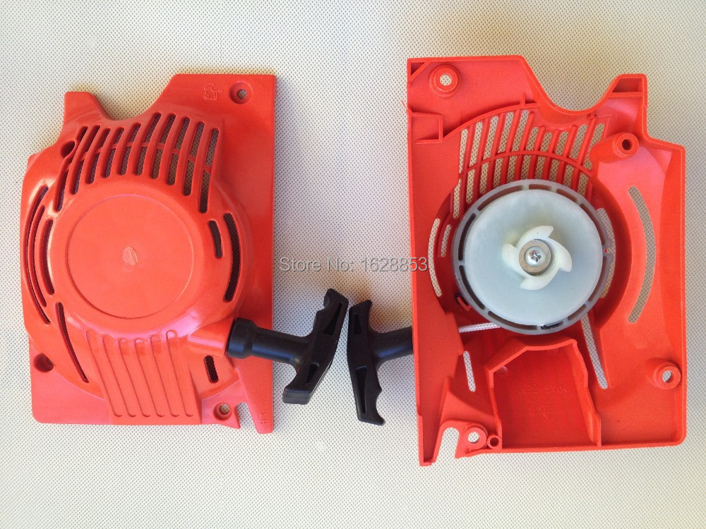 45cc 52cc 58cc easy Recoil pull starter chainsaw spare parts for Chinese chainsaw 4500/5200/5800 recoil starter handle grip for all chainsaw brush cutter and spare parts 2500 3800 4500 5200 5800 6200