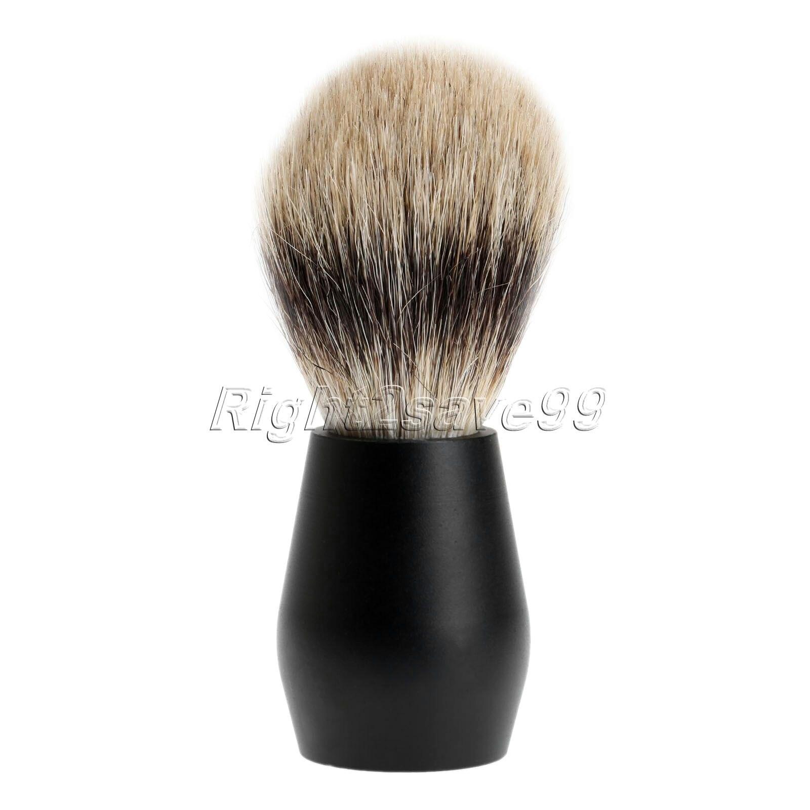 ᗕPeluquera Brochas de afeitar negro puro pelo de tej³n mango de