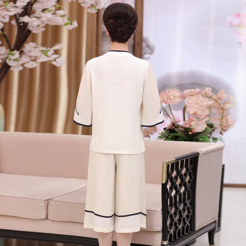 2019 3 Du Moyen 2 Maman Manches D'âge pièce Femmes âge T Courtes Costume shirt Moyen Printemps Femelle À Deux Nouveau D'été 1 wTvTqx1X