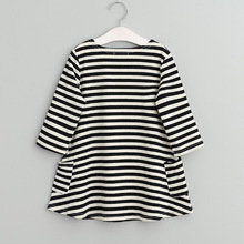 Baby Girls Clothes Long Sleeve Tunic Dresses Striped