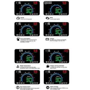 Image 2 - WiiYii HUD E350 car Head Up display Auto speed alarm OBD2 Windscreen Projector car electronics Data Diagnostic Tool