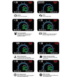 Image 2 - WiiYii pantalla frontal de coche HUD E350, alarma de velocidad automática OBD2, proyector de parabrisas, electrónica de coche, herramienta de diagnóstico de datos