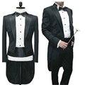 2015 chegada nova moda masculina ternos padrinhos smoking traje mágico palco vestidos de coquetel de casamento ternos do smoking para os homens brancos