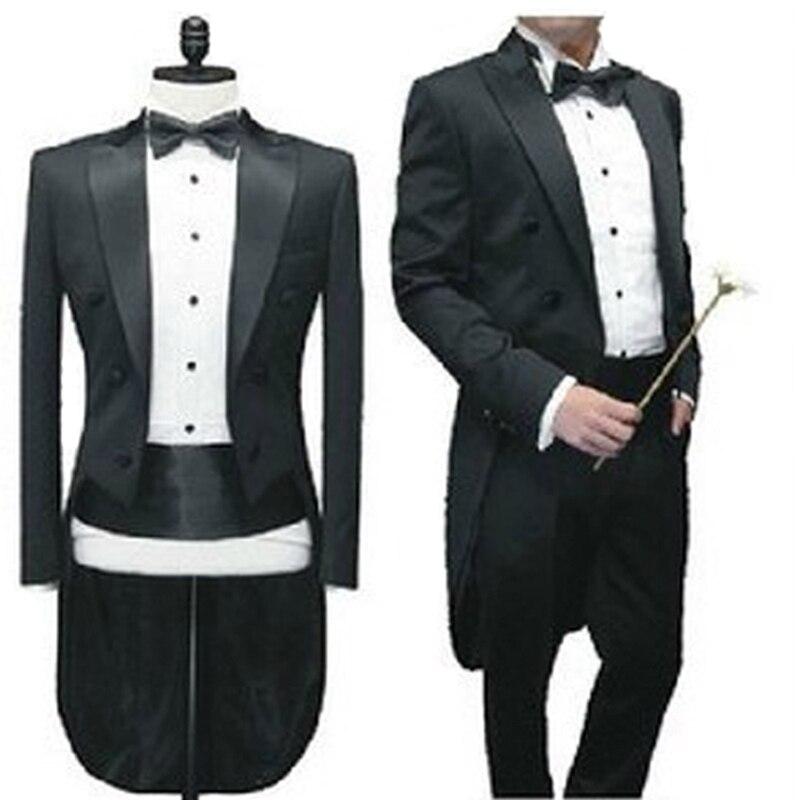 2015 nouveauté mode hommes costumes garçons d'honneur costume de smoking magicien scène smoking robes de cocktail costumes de mariage pour hommes blanc
