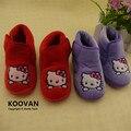 2015 ventas calientes Low precio Hello Kitty del bebé inferior suave walker zapatos de las niñas de dos colores talla 22-27 KY117
