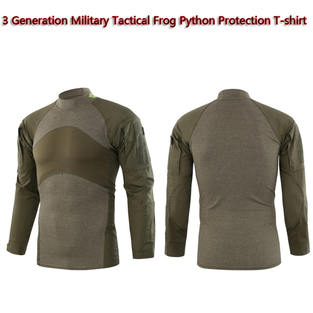 US $48 88 18% OFF|3 Generation Military Tactical Frog Protection Python  Grain T shirt Outdoor Hunting Paintball Air Gun Waterproof Motion Camo  Top-in