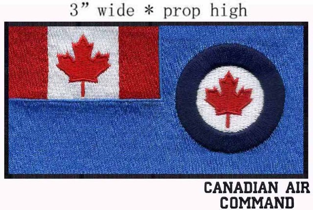 Canadienne Commandement Aérien Drapeau broderie patch 3 \
