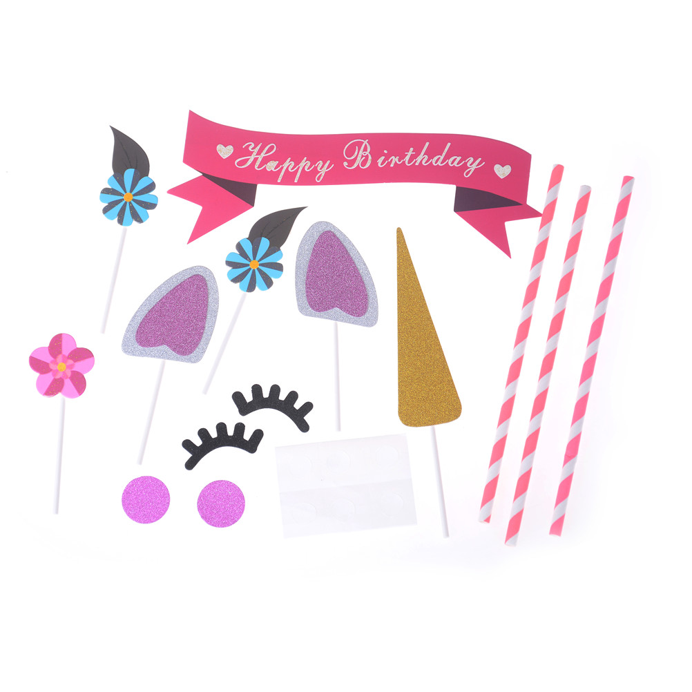 1 Set Gold / Silver HAPPY BIRTHDAY Candle Cake Candles kids Birthday ...