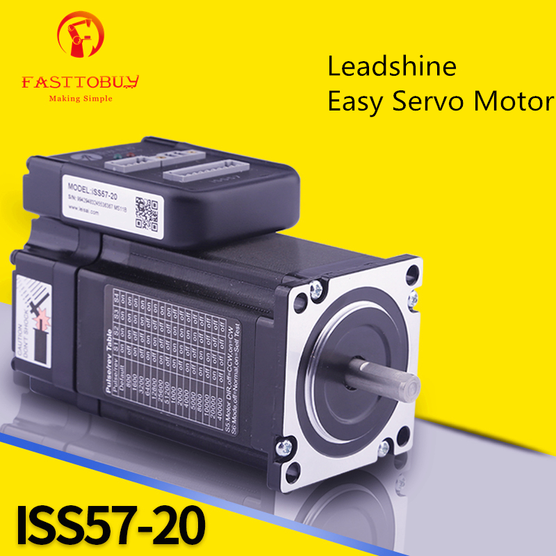 Leadshine iES-2320 Equal to Leadshine iSS57-20 2N.m Integrate Easy Servo Motor stepper motor+drive With Encoder Cable leadshine gongzheng gzc3212dp gzcs3206 3208ds printer dc servo motor drive dcs810