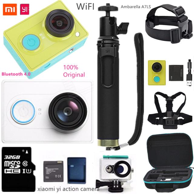 Original xiaomi yi 16mp câmera ação 1080 p 60fps wi-fi bluetooth 4.0 inteligente de viagem esporte câmera à prova d' água acessório opcional mi