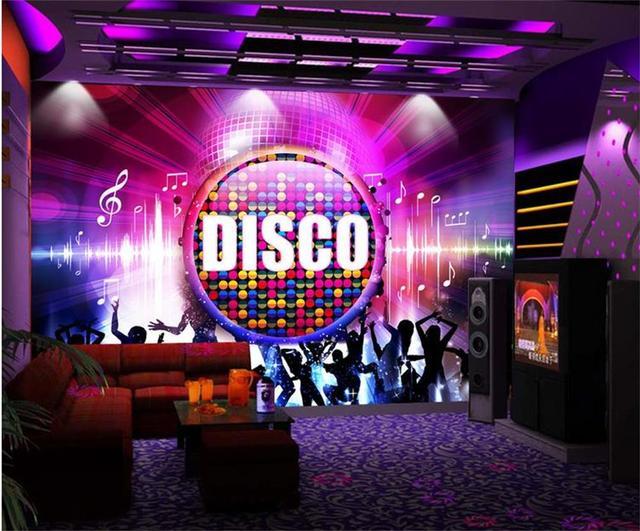 disco cool bar ktv bedroom sofa paper mural papier living behang wallpapers woonkamer muurschildering meisje slaapkamer fotowand bank aliexpress mouse