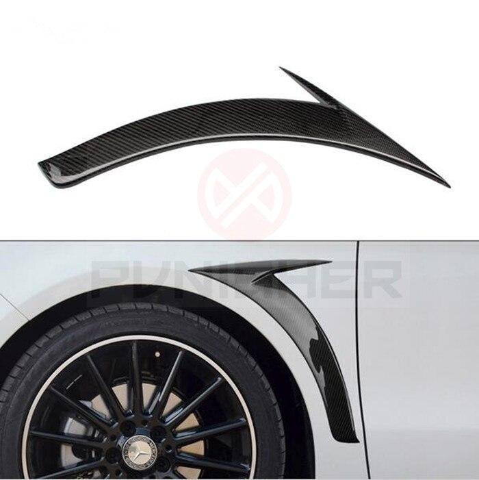Pour Mercedes W117 CLA classe CLA 250 CLA 260 CLA45 AMG pare-choc avant en Fiber de carbone séparateur de pare-boue en fibre de carbone garniture de ventilation 2014-UP