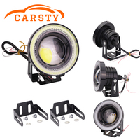 Mictuning 2pcs High Power 3 5 Projector Universal LED Fog Light DRL Daytime Running Lights White