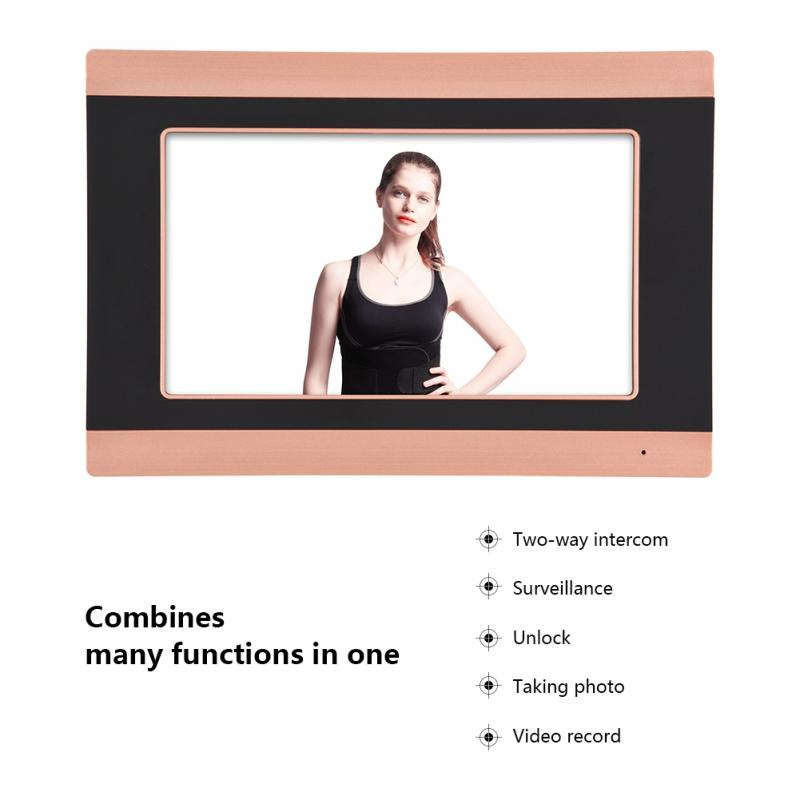 7 Inch WiFi Smart Video Doorbell Intercom System 1000TVL Wired IR-CUT 1xTouch Screen Monitor Wired Door Phone APP Control